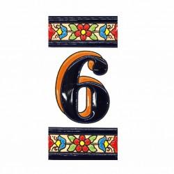 Número Flor 6
