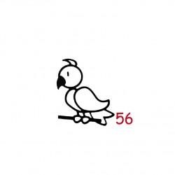 Pegatina Pájaro 5 cm