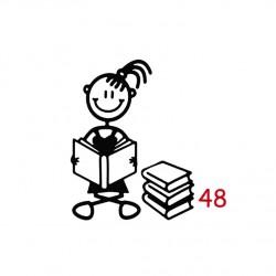 Pegatina  niña Estudiosa 7 cm